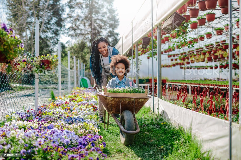 Moeder en dochter tuinieren - Royalty-free 25-29 jaar Stockfoto