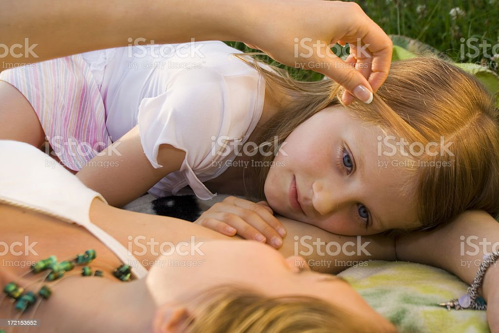 Mother and Daughter - glance stock photo