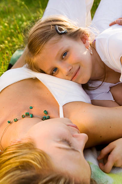 Mother and Daughter - happy stock photo