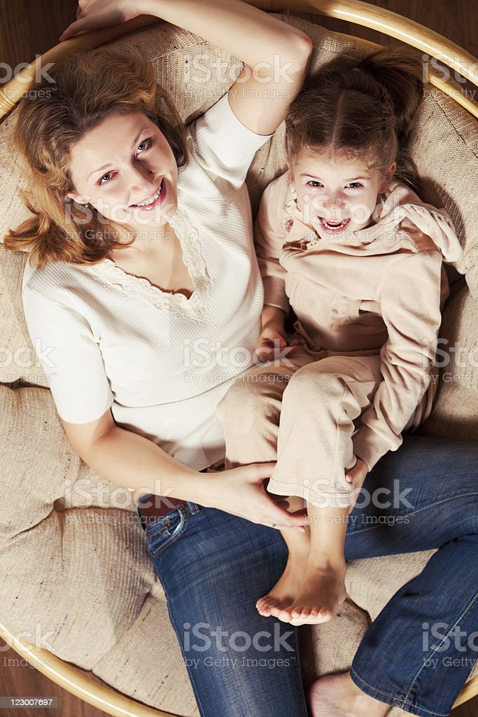 Mother and daughter having fun royalty-free stock photo