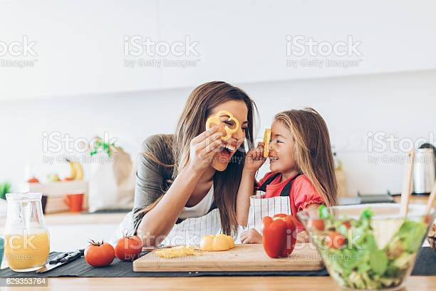 Mother and daughter having fun with the vegetables picture id629353764?b=1&k=6&m=629353764&s=612x612&h=h5u0y3nbikt7ikc59xl1xqfu qhevpa1diy64qy12lm=
