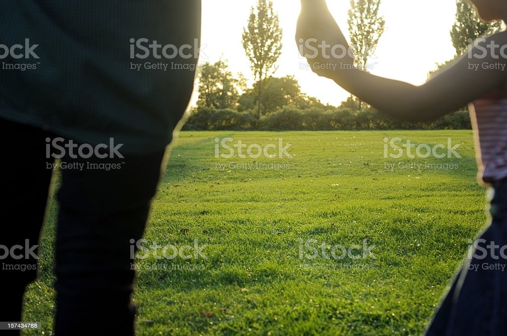 Mother and Daughter Holding Hands royalty-free stock photo