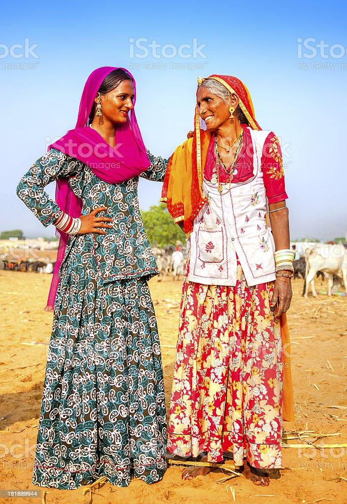 Mother and Daughter in India royalty-free stock photo