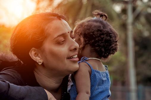 mother , daughter, playing, enjoy, smile