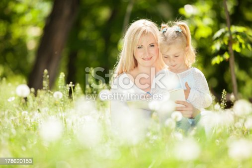 istock Mother and daughter in the park 178620153