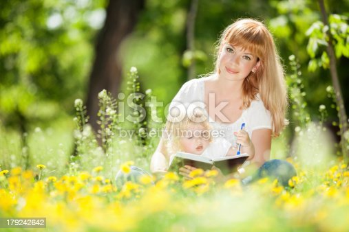 istock Mother and daughter in the park 179242642