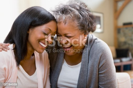 istock Mother and daughter laughing 132264539
