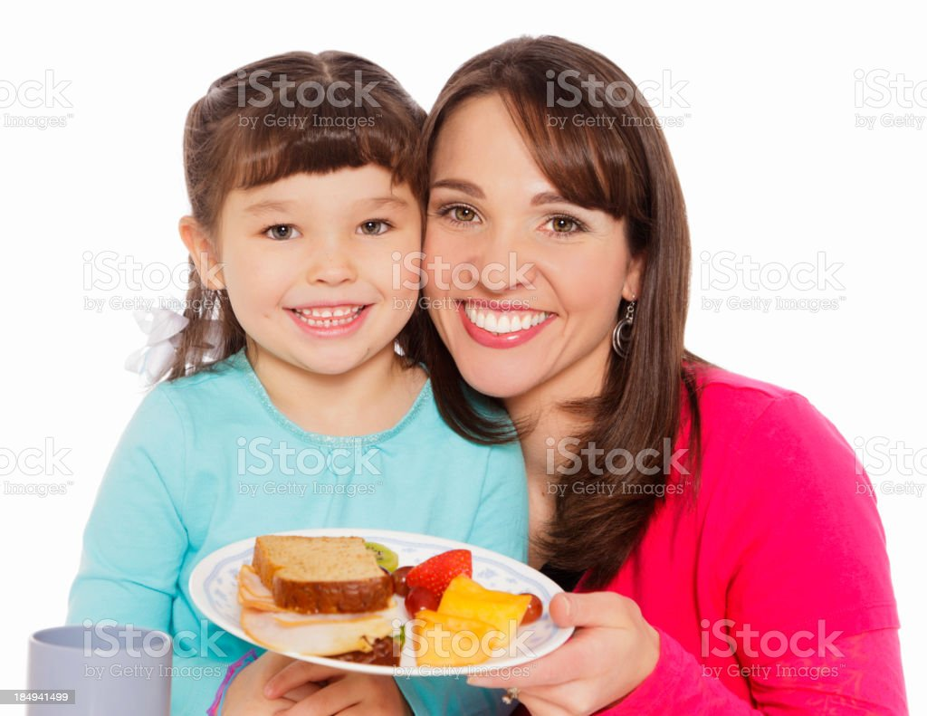Mother and Daughter Lunch royalty-free stock photo