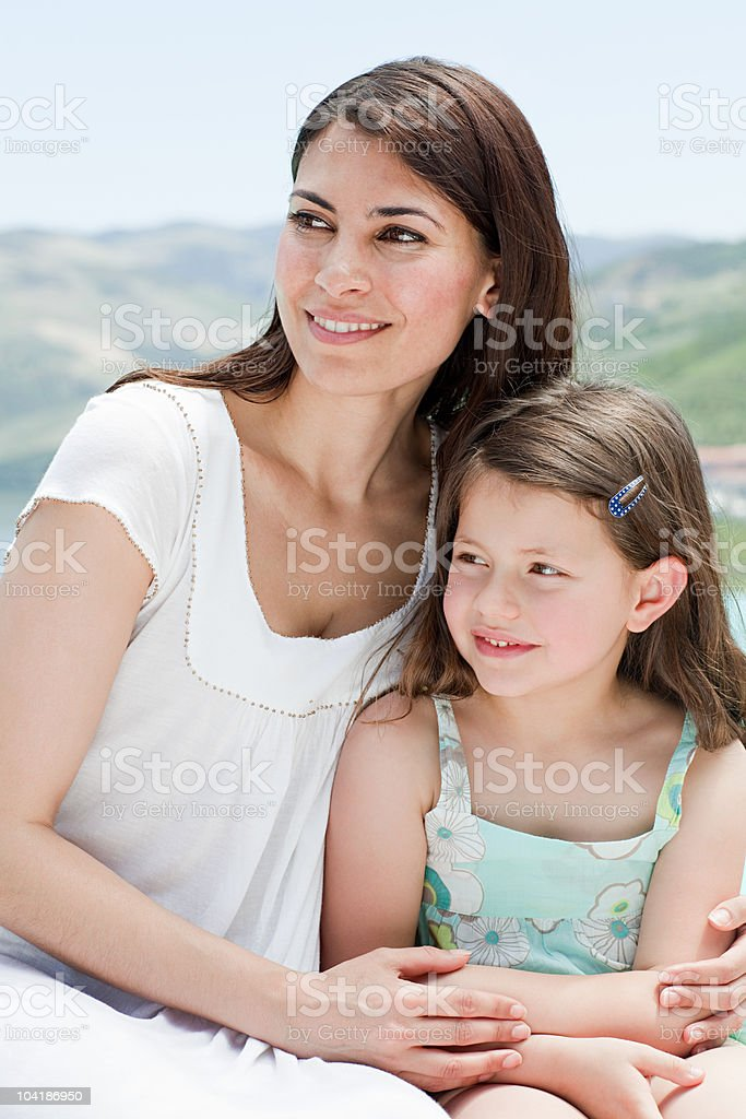 Mother and daughter on holiday royalty-free stock photo