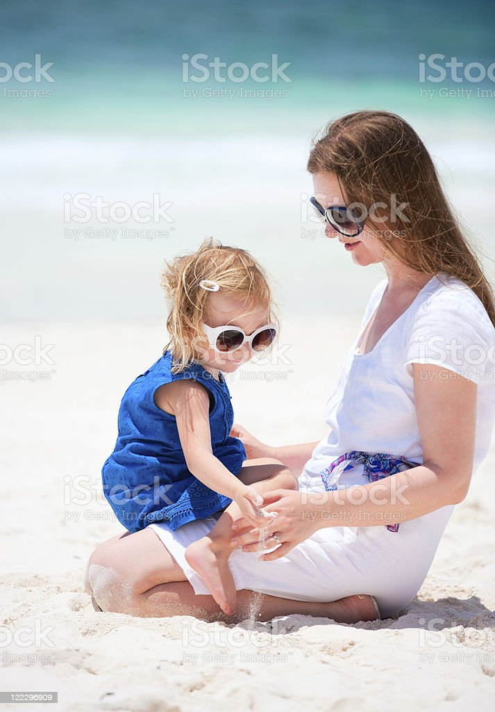 Mother and daughter on vacation royalty-free stock photo