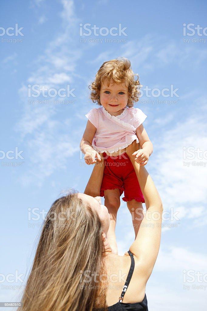 구슬눈꼬리, 딸이다 - 로열티 프리 가족 스톡 사진