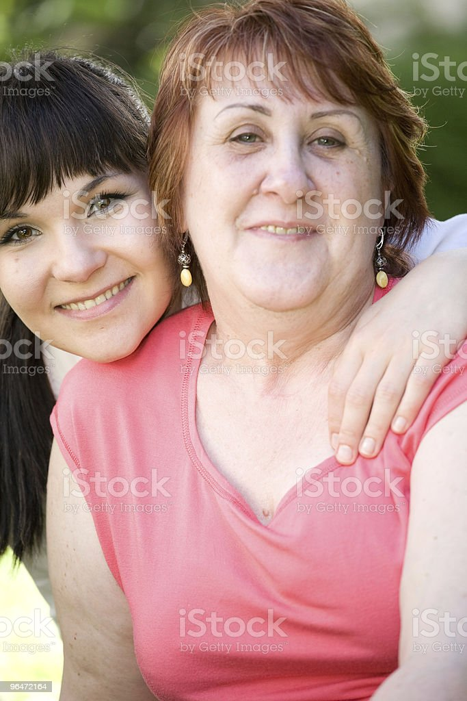 mother and daughter royalty-free stock photo