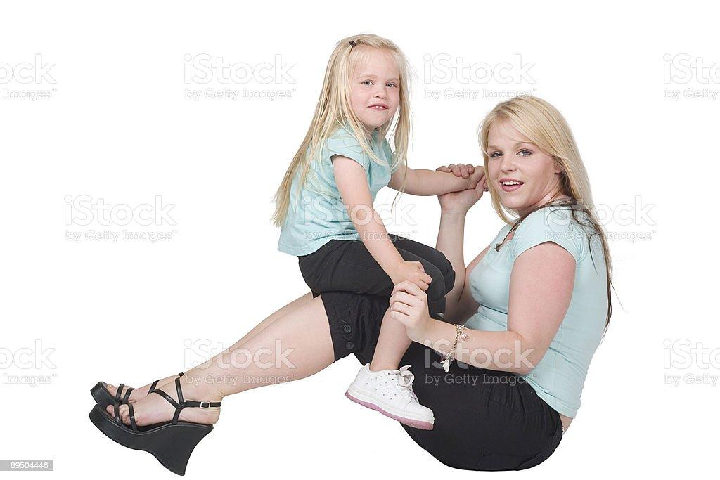 Madre e figlia giocano foto stock royalty-free