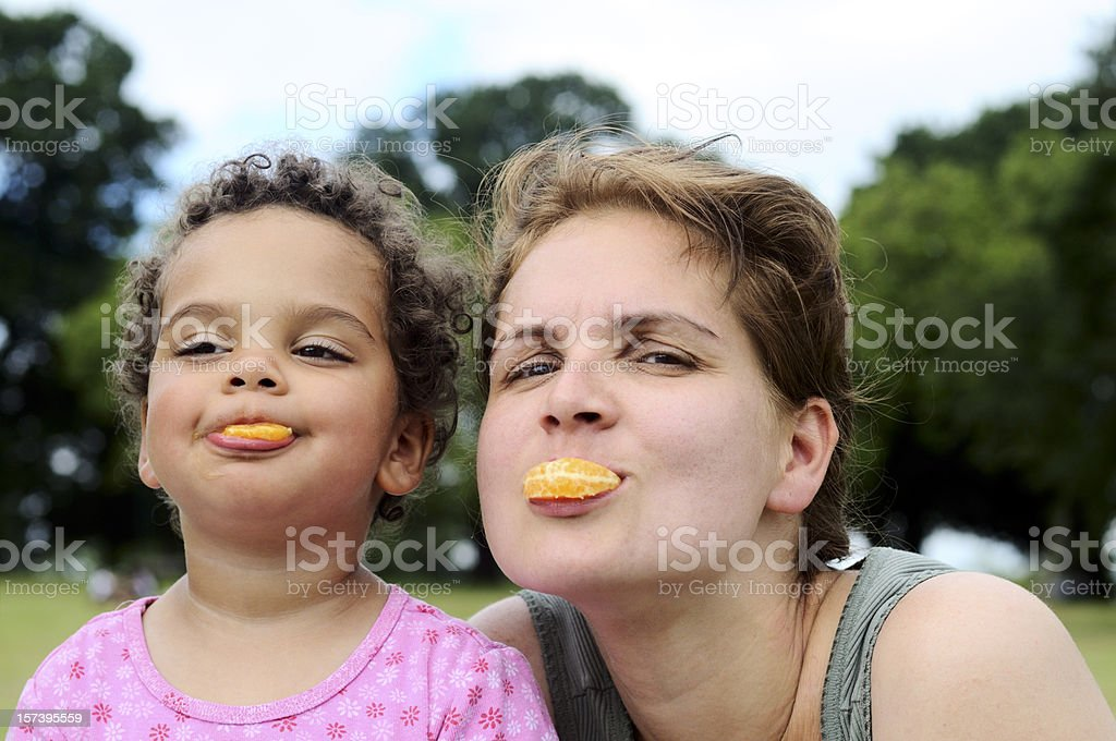 Mother and daughter playing together royalty-free stock photo