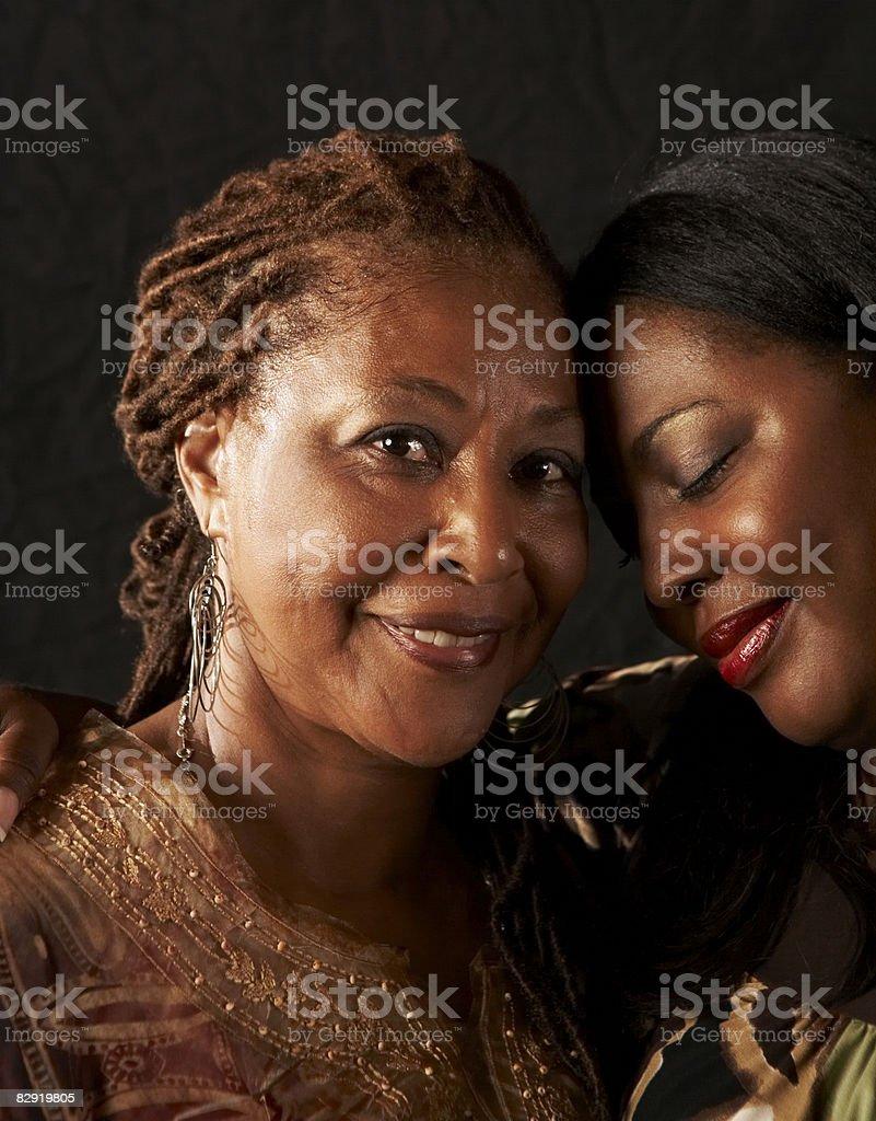 Mother and daughter portrait royaltyfri bildbanksbilder
