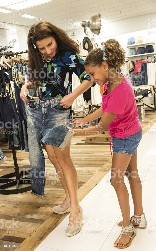 Mother and daughter shopping royalty-free stock photo
