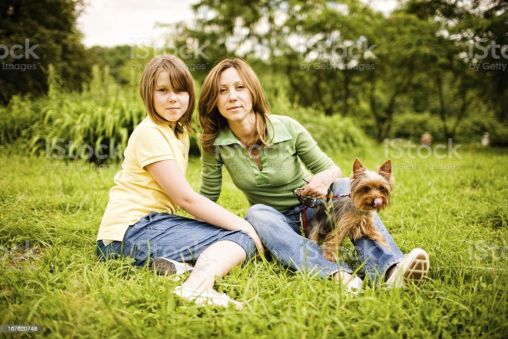 Mother and Daughter Summer Portrait stock photo