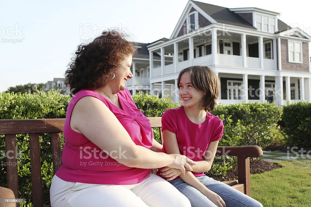 Mother and Daughter Talk royalty-free stock photo