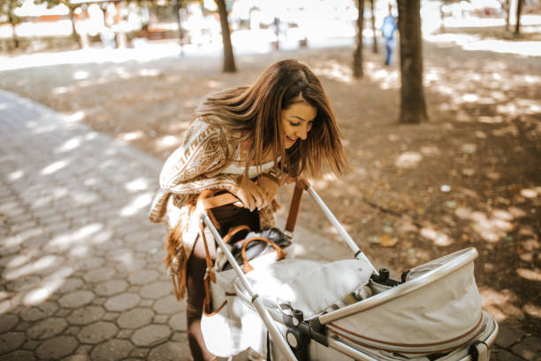Mother and daughter time Mother and daughter time baby carriage stock pictures, royalty-free photos & images