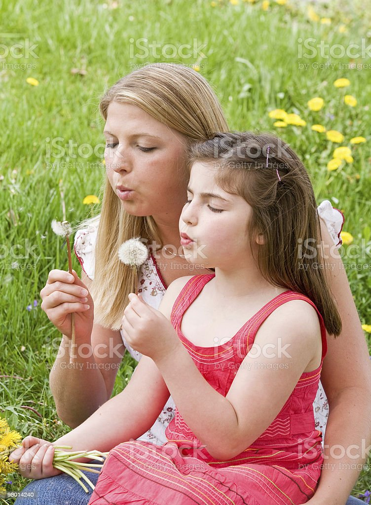 Mother and Daughter Together royalty-free stock photo