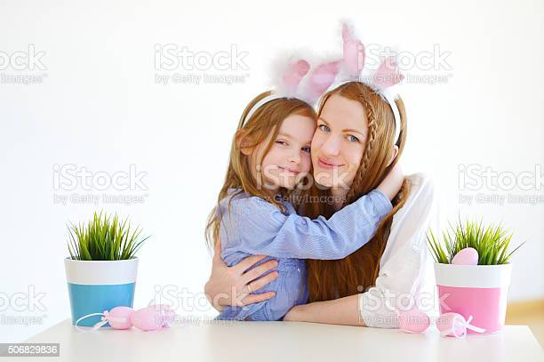 Mother and daughter wearing bunny ears on easter picture id506829836?b=1&k=6&m=506829836&s=612x612&h=elhtcym nxlfqsmbge bfiijspug8cz1o8pwsfndb08=