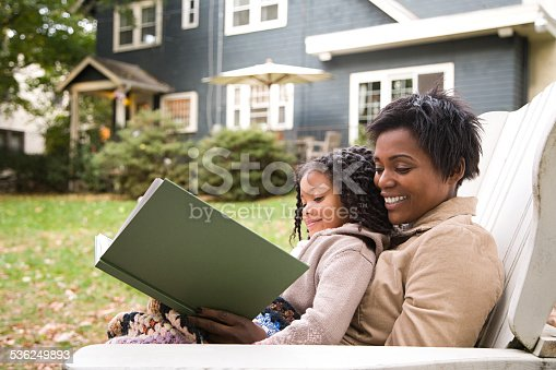 istock Mother and daughter with book 536249893