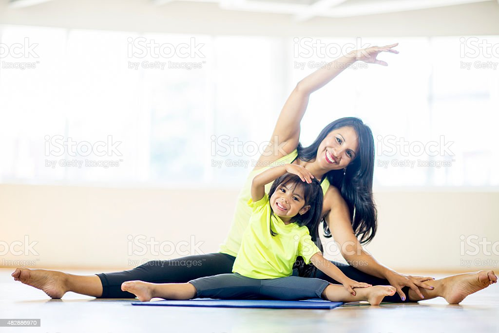 Moms yoga lesson
