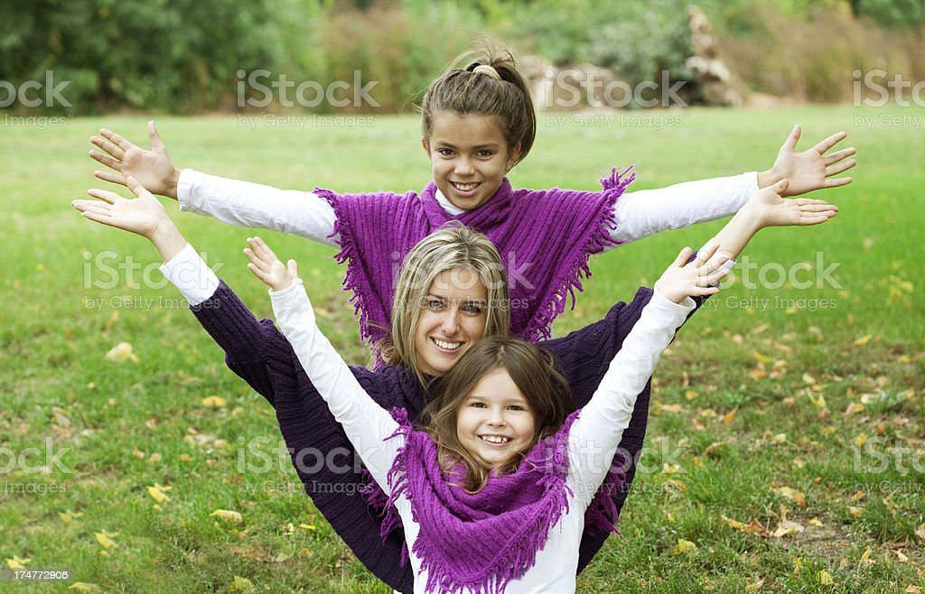 Mother and daughters- happiness royalty-free stock photo