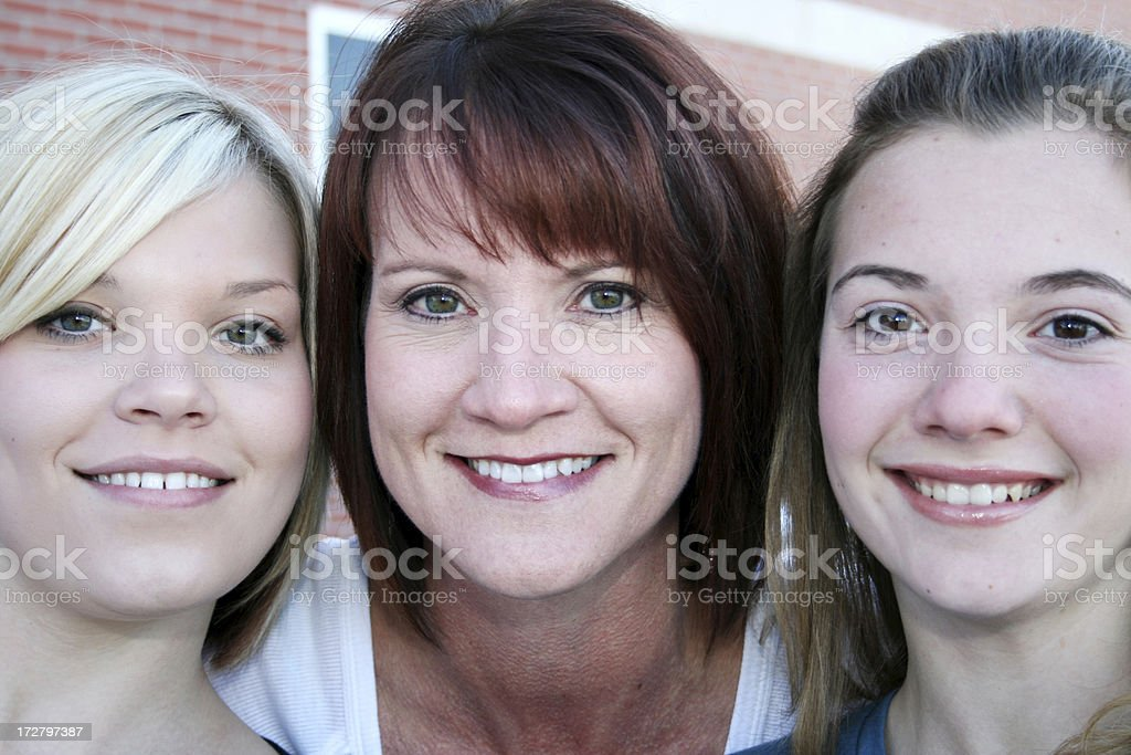 Mother and Daughters royalty-free stock photo