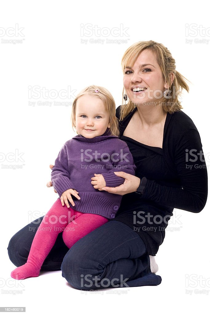 mother and doughter royalty-free stock photo
