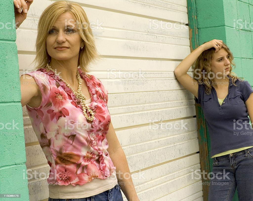 mother and girl - middle aged woman teen royalty-free stock photo