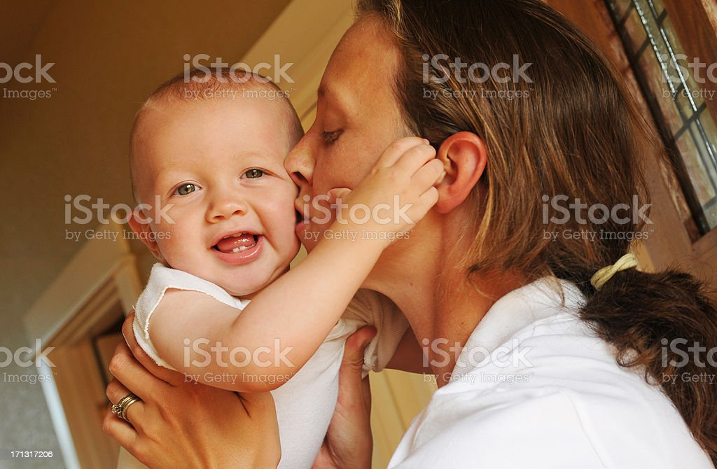 Mother and Her Baby royalty-free stock photo