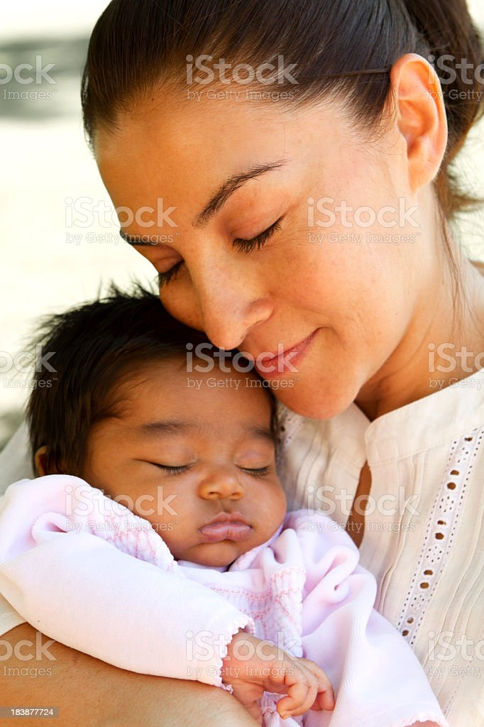 Mother and her baby stock photo