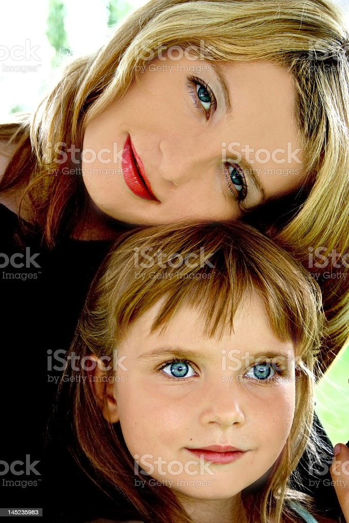 Mother and her daughter royalty-free stock photo