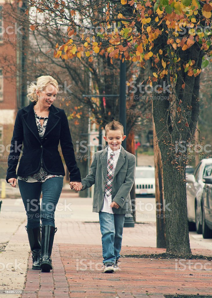 Mother and Her Son royalty-free stock photo