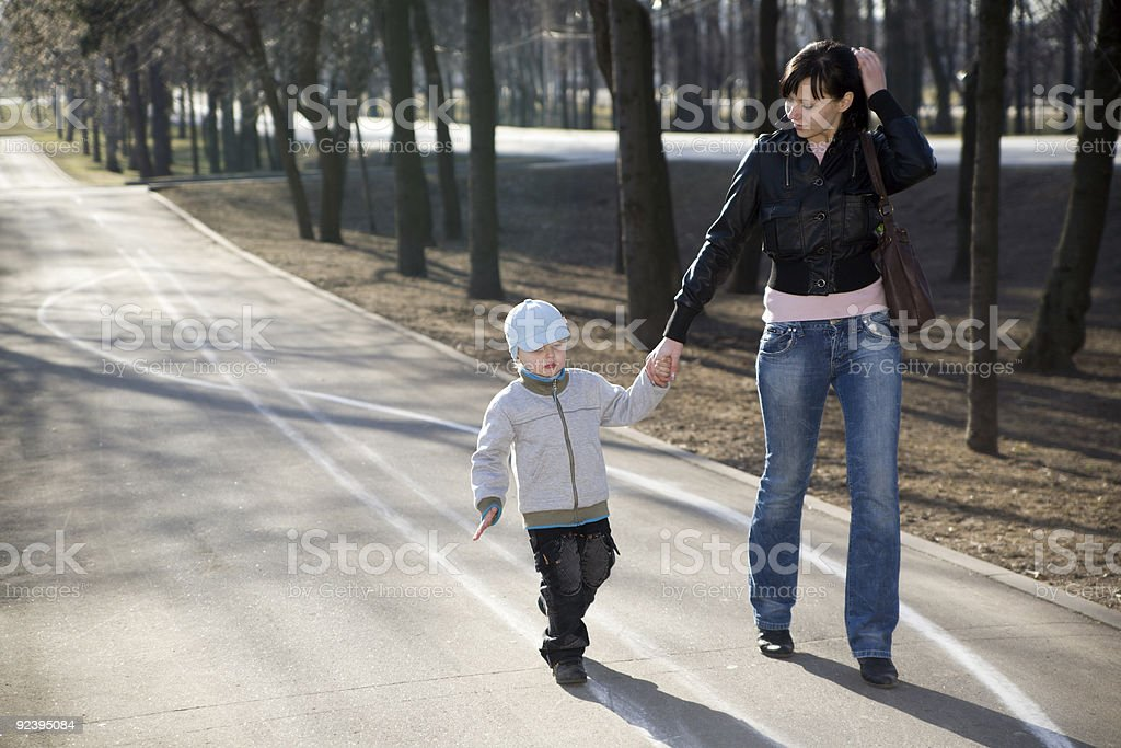 Mother and her son stock photo