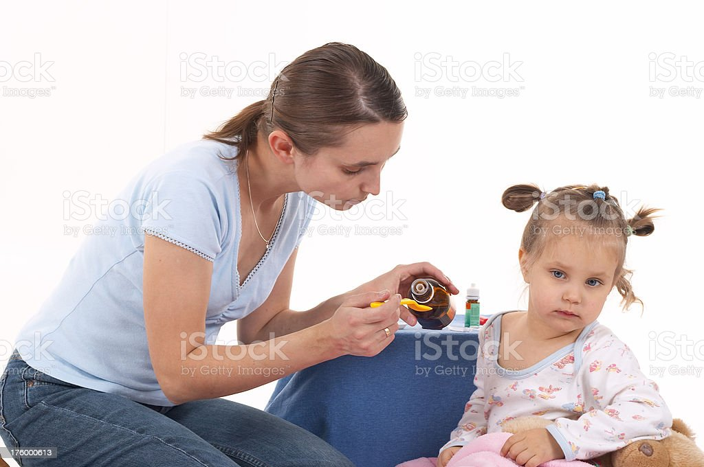 Mother and ill child royalty-free stock photo