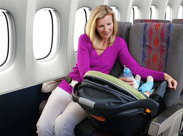 Mother And Infant Passengers stock photo