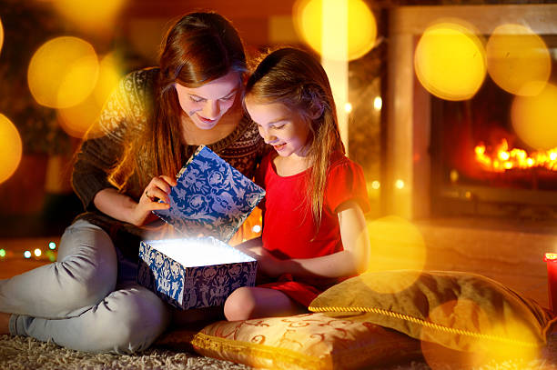 Mother and little daughter opening a magical christmas gift picture id496775602?b=1&k=6&m=496775602&s=612x612&w=0&h=3cq ccxgz8inhcklvfsfwf8npfi 5 qymbtqc5scozq=