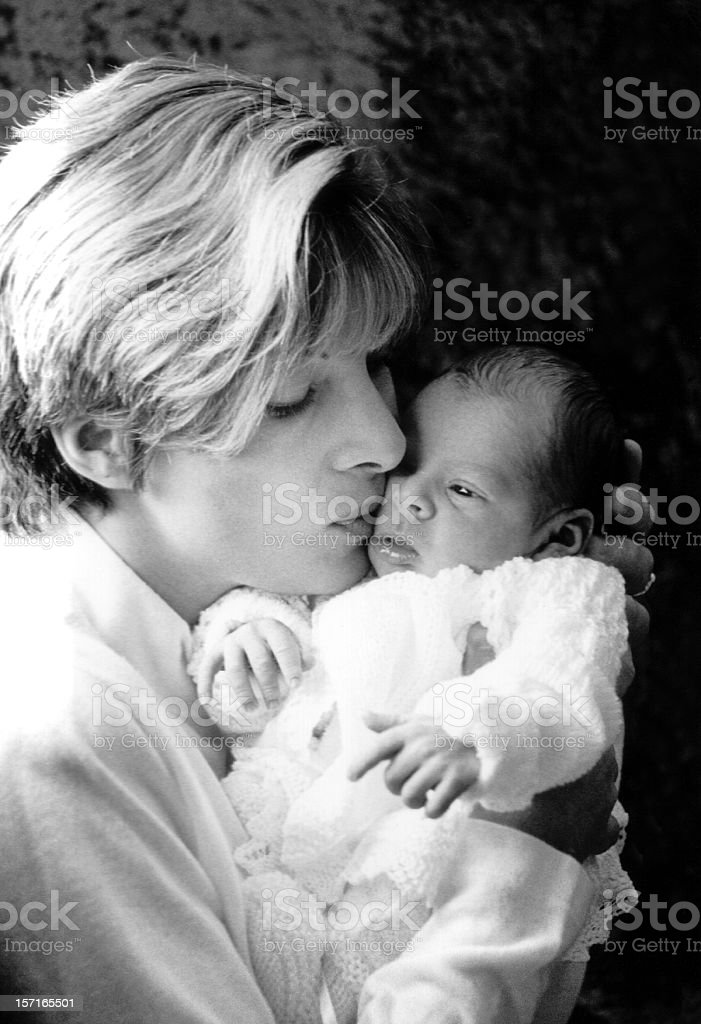 Mother and new born royalty-free stock photo