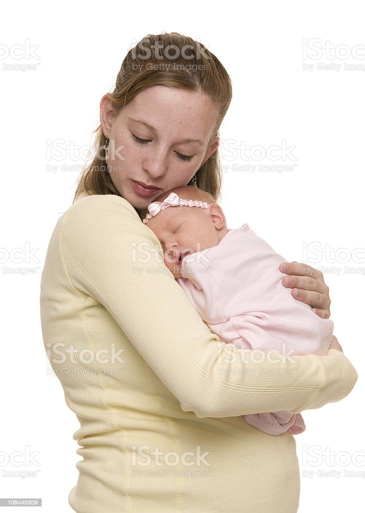 Mother and Newborn Baby stock photo