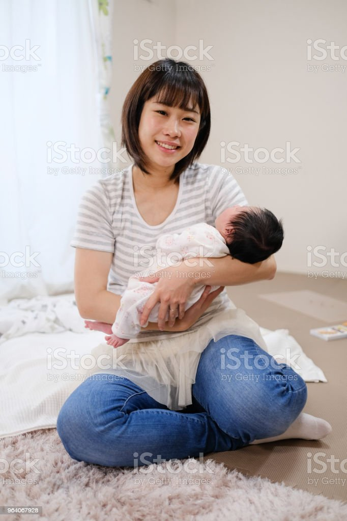 mother and newborn baby - Royalty-free 0-1 Months Stock Photo