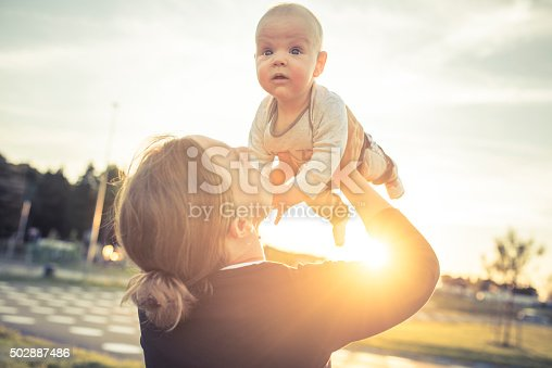 istock Mother and son enjoying outdoors 502887486