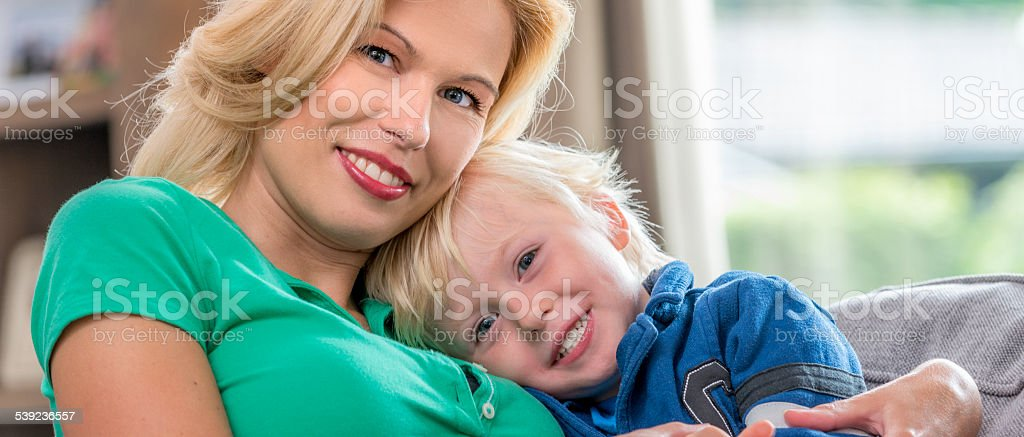 Mother and son enjoying quality time royalty-free stock photo