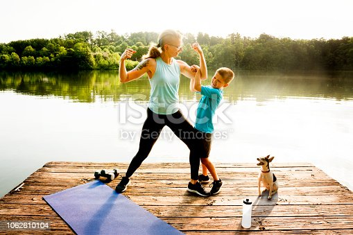 istock Mother and Son Fitness 1062610104