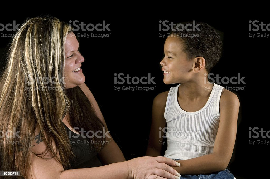 mother and son - happy together stock photo