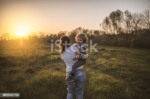 Mother And Son In Nature Stock Photo & More Pictures of Adult