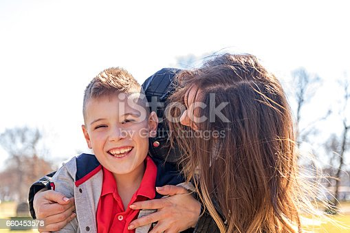 516318379 istock photo Mother and son in the park 660453578