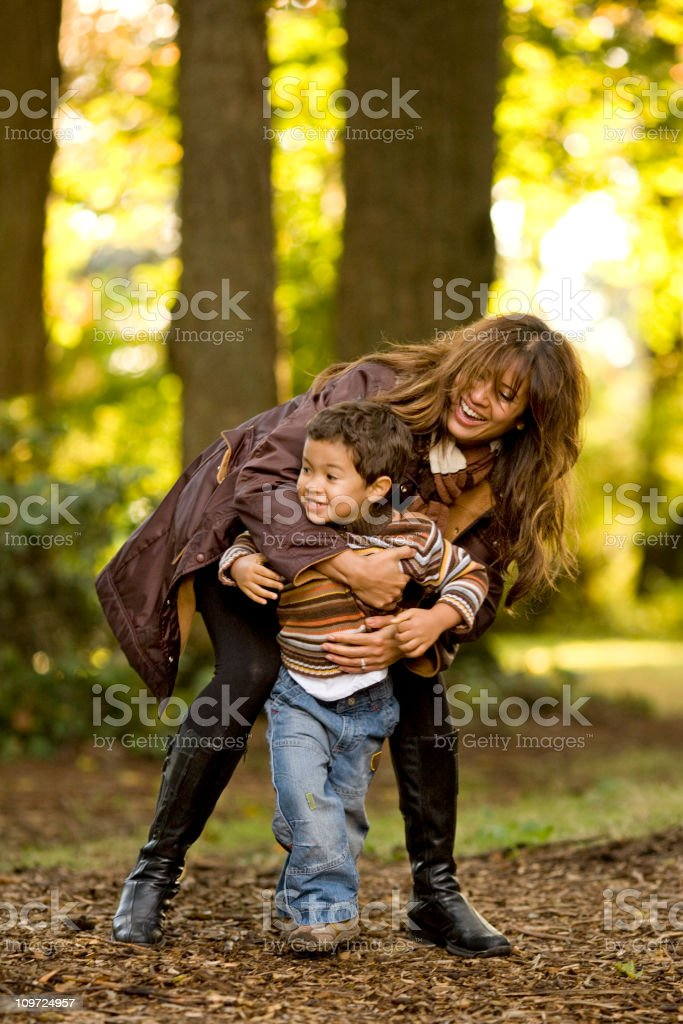 Mother and Son Laughing  20-29 Years Stock Photo