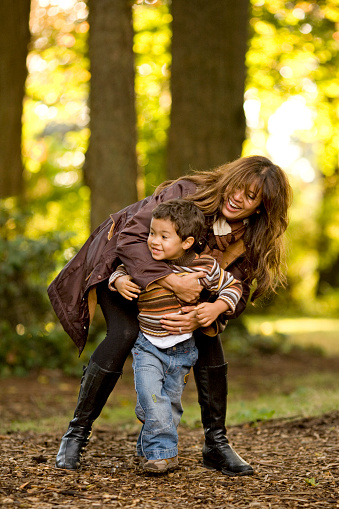 Mother And Son Laughing Stock Photo - Download Image Now